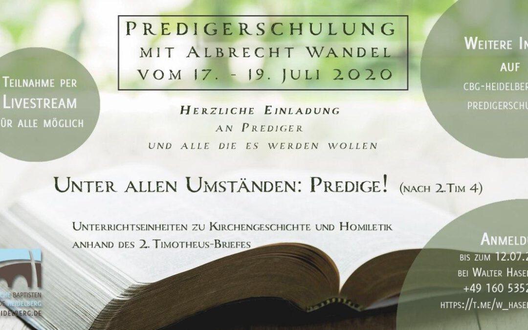 Predigerschulung Juli 2020